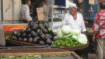 Street vegetables seller
