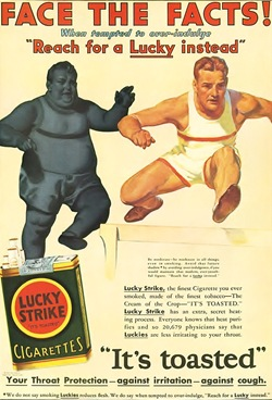 Lucky Striked cigarettes: Your Throat Protection against irritation, against cough