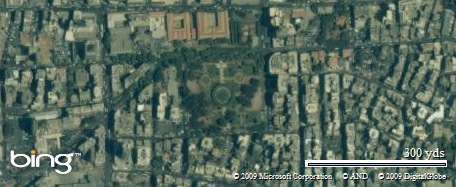 Sanayeh Park, in Beirut, Lebanon