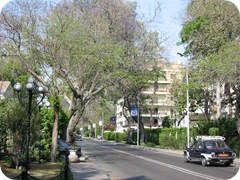 Typical busy street in Maadi