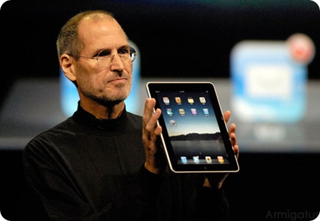 Steve Jobs unveiling the iPad