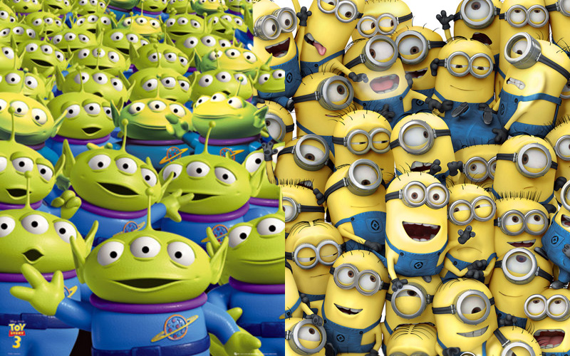 Despicable Me Spoofs Toy Storys Aliens Mes Minions